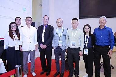 The Chinese delegation with Dr. Ami Appelbaum and Sol Gradman